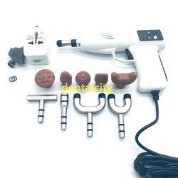 Регулируемая мануальная терапия для позвоночника инструмент 4 уровня 10 головок электрическая коррекция кости пистолет активатор шейки мат...