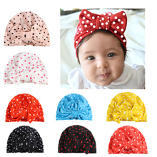 Print Bow Baby Caps Turban Soft Hat Headbands For Newborn Girls Elastic Hair Bands Headwear For Baby Girls Hair Accessories New sunlikeyou baby headband butterfly girls embroidery hair bands for girls kids headbands turban newborn baby hair accessories