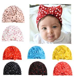 Print Bow Baby Caps Turban Sof