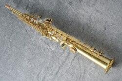 Straight Soprano Saxophone High Quality Straight B flat Sax Musical Free Shipping