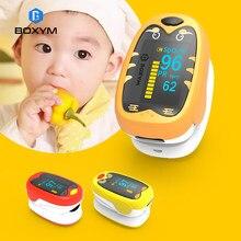Boxym dedo do bebê oxímetro de pulso pediatra de dedo spo2 pr oled recarregável crianças crianças pulsioximetro