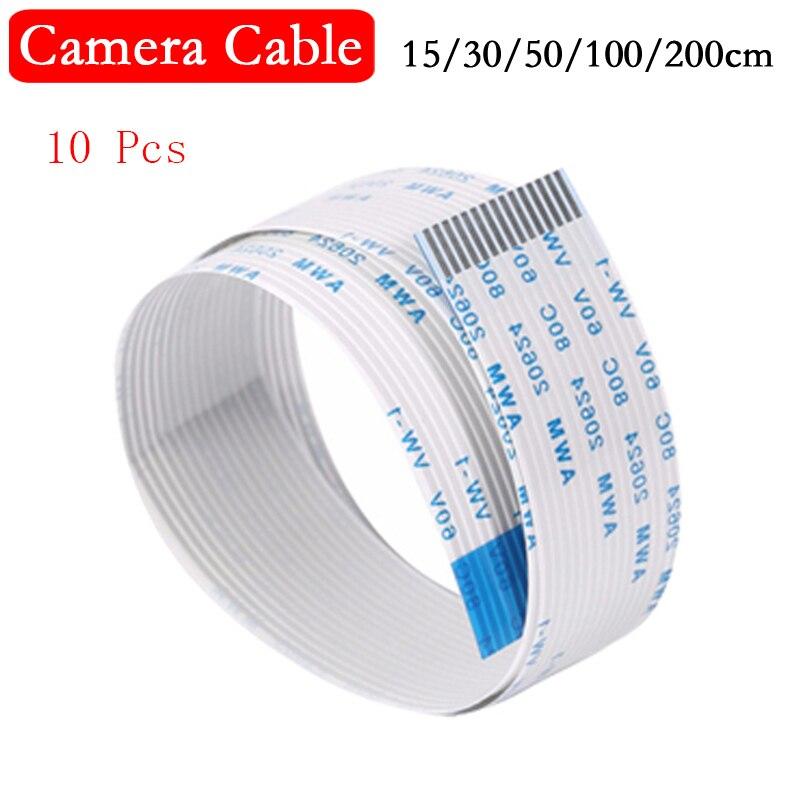 10Pcs Raspberry Pi 3 Camera Flex Cable 15cm 30cm 50cm 1m 2m 15Pin FFC Flat Wire Cable For Raspberry Pi 4 Model B 4B 3B 2B Camera