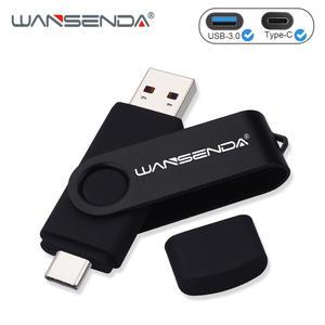 WANSENDA Flash-Drive Usb-Stick-Pendrives USB3.0 Type-C 128GB High-Speed 64GB OTG 512GB