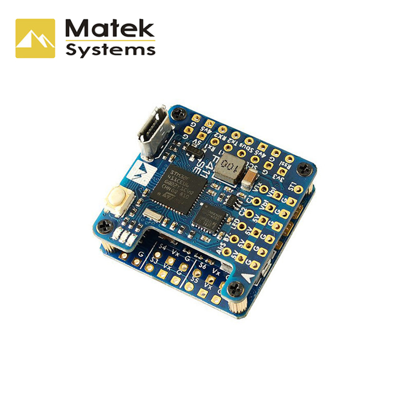 Matek Systems F411-WSE STM32F411CEU6 Flight Controller Built-in OSD 2-6S For  RC Airplane Fixed Wing Spare Parts Accessories