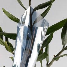 25% película espelhada da prata, bloqueio auto-adesivo da janela refletora da luz, filme solar de controle de calor de privacidade