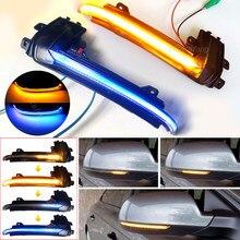 Dinâmica LED Turn Signal Blinker Luz Que Flui Água Para Audi A4 A5 B8.5 B8 RS5 RS3 A3 8P S5 RS4 A6 Q3 A8 8K Luz Intermitente