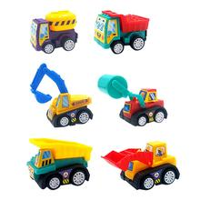 Engineering Truck Toys Cars-Models Children Mini Ce 6pcs/Set Develop Pull-Back Birthday-Gifts