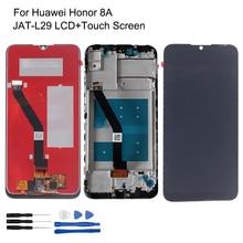 Huawei 社の名誉 8A lcd ディスプレイ JAT L29 タッチスクリーンデジタイザオリジナル名誉 8A 修理部品フレーム lcd ディスプレイ