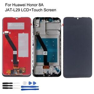 Image 1 - Huawei 社の名誉 8A lcd ディスプレイ JAT L29 タッチスクリーンデジタイザオリジナル名誉 8A 修理部品フレーム lcd ディスプレイ