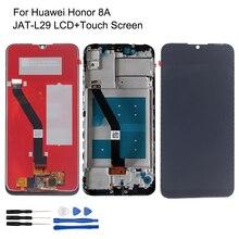 Huawei onur için 8A LCD ekran JAT L29 dokunmatik ekran Digitizer orijinal onur 8A onarım parçaları ile çerçeve LCD ekran