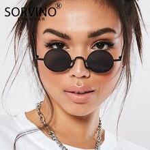 Sorvino 2020 retro magro redondo steampunk óculos de sol das mulheres dos homens marca designer óculos senhora círculo óculos de sol máscaras sp152