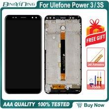 Digitalizador de tela touch screen ulefone, 100% original para ulefone power 3/3s lcd e acessórios de módulo de tela com moldura ferramentas de substituição