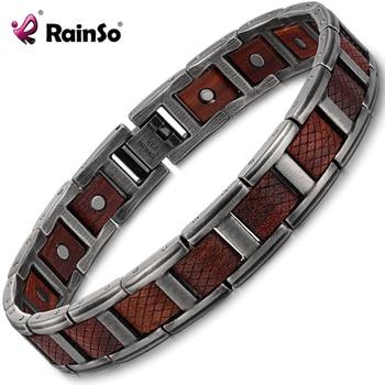 Zebrawood Magnetic Stainless Steel Bracelet  1