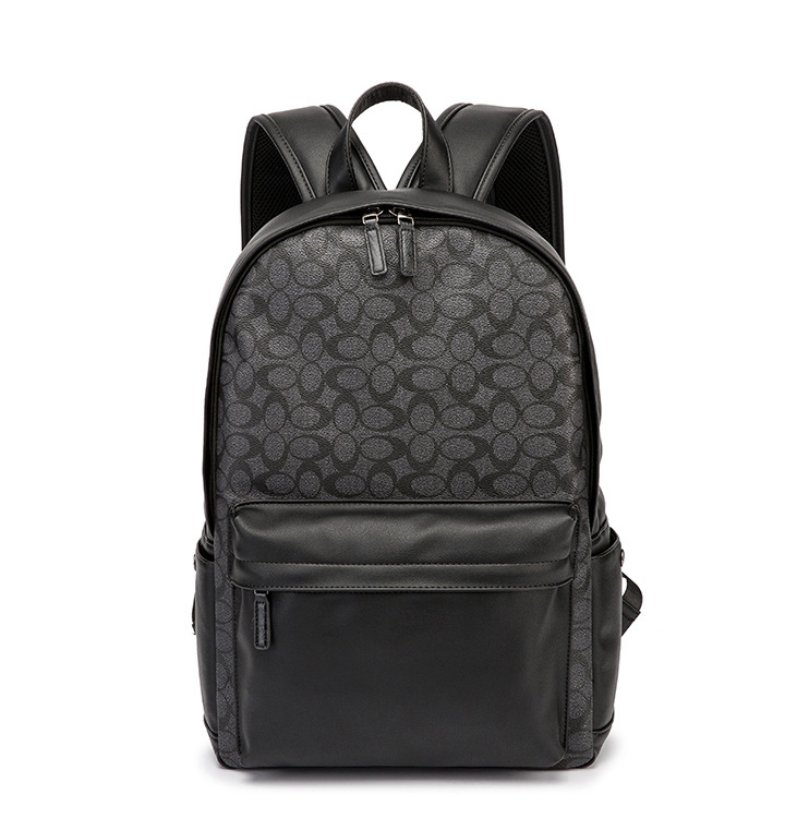Deluxe Classic Plaids Business Backpack Premium PU Leather Waterproof Laptop 15 inch Macbook
