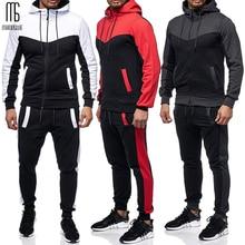 Manoswe traje deportivo con capucha para hombre, diseño clásico de bloque de color, informal, con cordón, novedad de otoño y Bolsillos de invierno, sudadera de gran tamaño 3XL