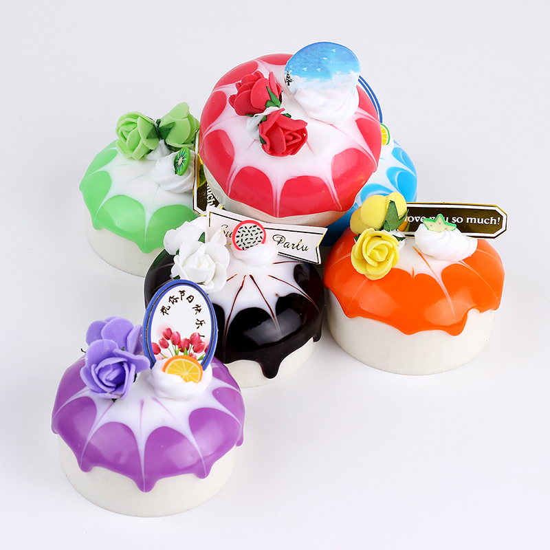6pcs Simulation Cream Cupcake Sift Squishy PU Bread Squeeze Toys Stress Relief Toy Wedding Party Birthday Decoration