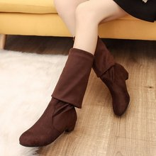 Women autumn over the knee high boots low heels casual warm shoes woman slip on Boots Women Boots gladiator mujer zapatos a93 цены онлайн