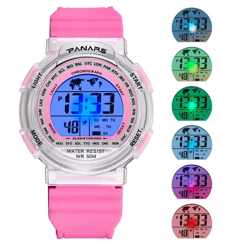 New Waterproof Children Watch Boys Girls LED Digital Sports Watches Silicone Kids Alarm Date Casual Watch For Kid Gift Colorful