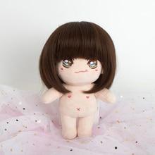 Muziwig 34cm BJD Wig Fair size 1/3 1/4 1/6 1/8 Long Wave High Temperature Fiber hair for Dolls 8 9 bjd long volume wig brown high temperature wire 1 3