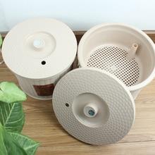 Tea Filtering Bucket Tea ceremony special trash can with filter drain bucket With drain hole Short barrel Tea partner