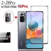 Empfindliche Touch PanzerGlass für Xiaomi Redmi-Note-10 Pro Display-Schutzfolien & Kamera Film Note10Pro/Note10 10Pro Protector Folie Redmi Note 10 Pro Panzerglas