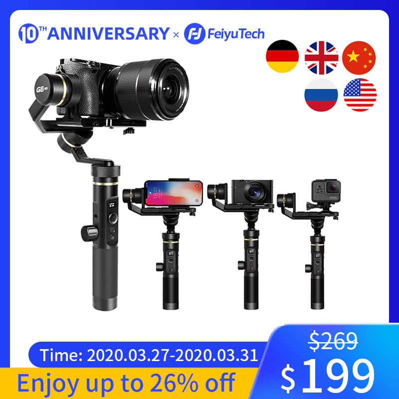 Feiyutech G6 プラス 3 軸ジンバルミラーレスカメラ用 G6P ハンドヘルド移動プロスマート電話ペイロード 800 グラム feiyu g6P -