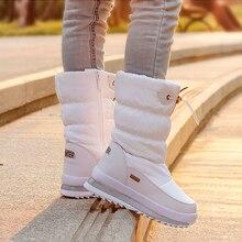 2020 冬プラットフォーム女の子ブーツ子供ゴム抗スリップ雪のブーツの靴女の子ビッグ子供防水暖かい冬靴bota ş