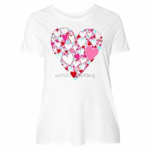 Inktastic Heart Of Hearts- Valentine WomenS Plus Size T-Shirt Valentines Shape 2Xl 10Xl Tee Shirt(China)