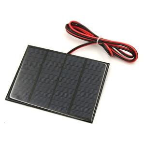 Image 3 - 태양 전지 패널 1.5W 12V 100cm 연장 와이어 미니 태양 전지 DIY 배터리 전화 충전기 휴대용 모듈 다결정
