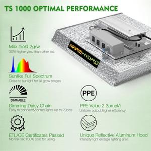Image 5 - MarsHydro TS 1000W kısılabilir ışık büyümeye yol açtı tam spektrum kapalı bitki topraksız sistem büyümek çadır ve bitki yetiştirme lambaları paneli