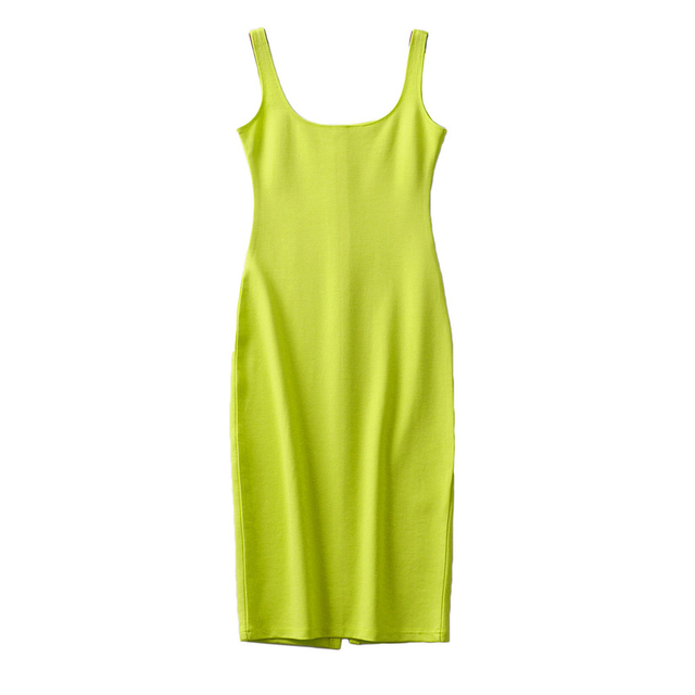 Bradely Michelle Summer Dress Vestido Women's Sexy Back Slit Sleeveless Bodycon Tank Knee-length Dress 6