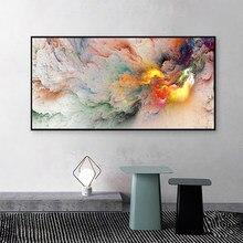 Hdarartisan – affiche murale de paysage, toile imprimée abstraite, peinture de nuage pour décoration de salon, de maison, sans cadre