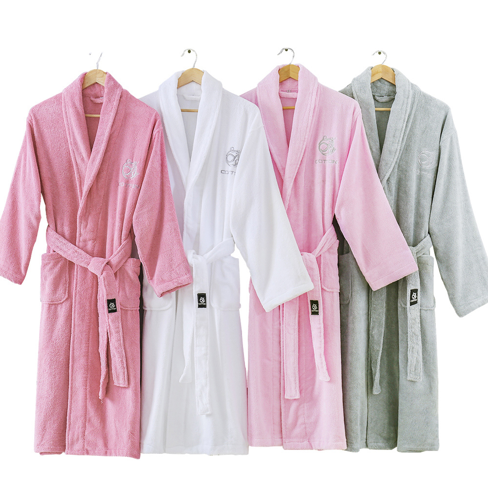 Men's Bathrobe Cotton Long Warm Bathrobe Thick Soft Winter Bath Robe Mens Dressing Gown Kimono Robes Male Bridesmaid Bathrobes