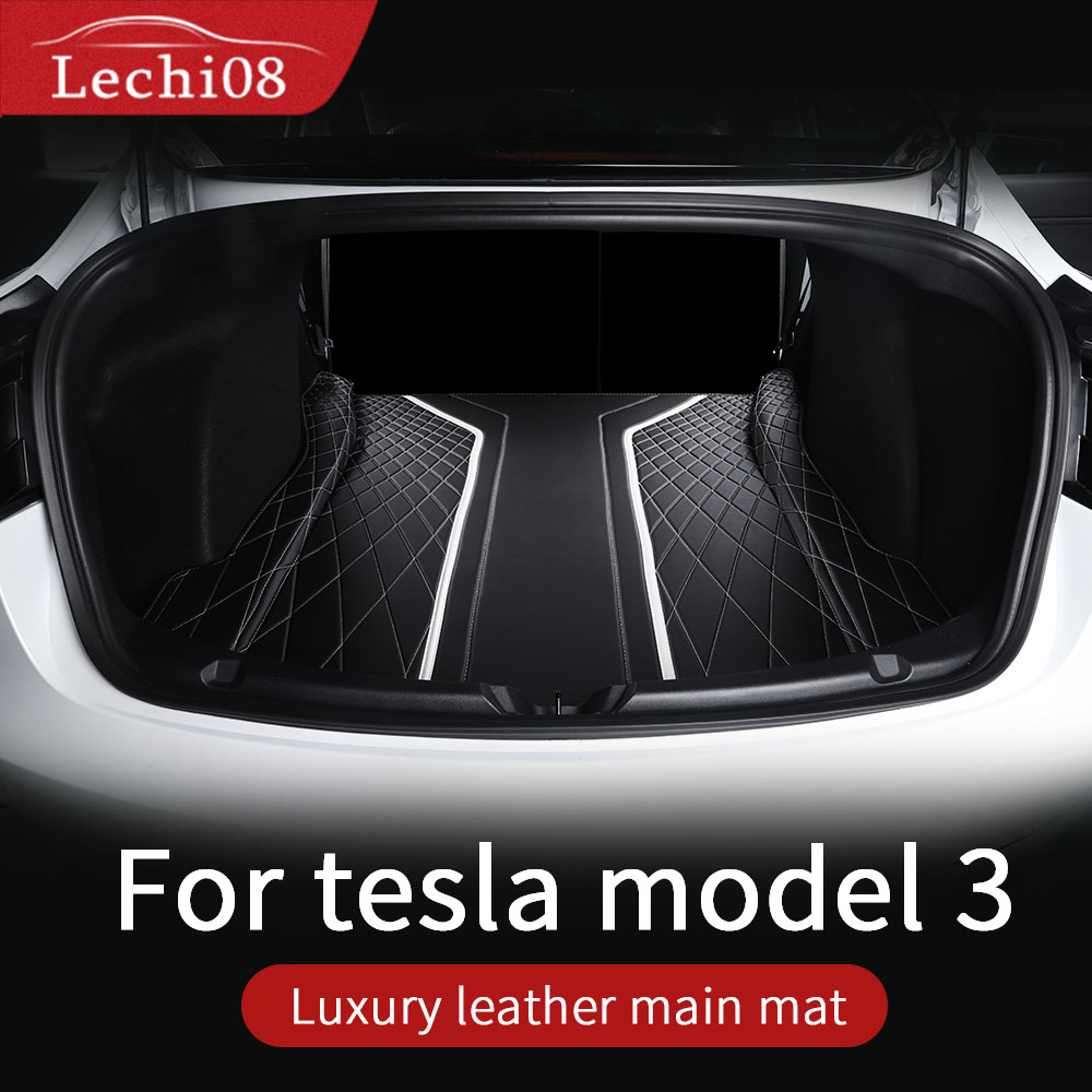 Leather Trunk For Tesla Model 3 Trunk Mat Tesla Model 3 Accessories Model 3 Tesla Three Tesla Model 3 /accessoires Model3