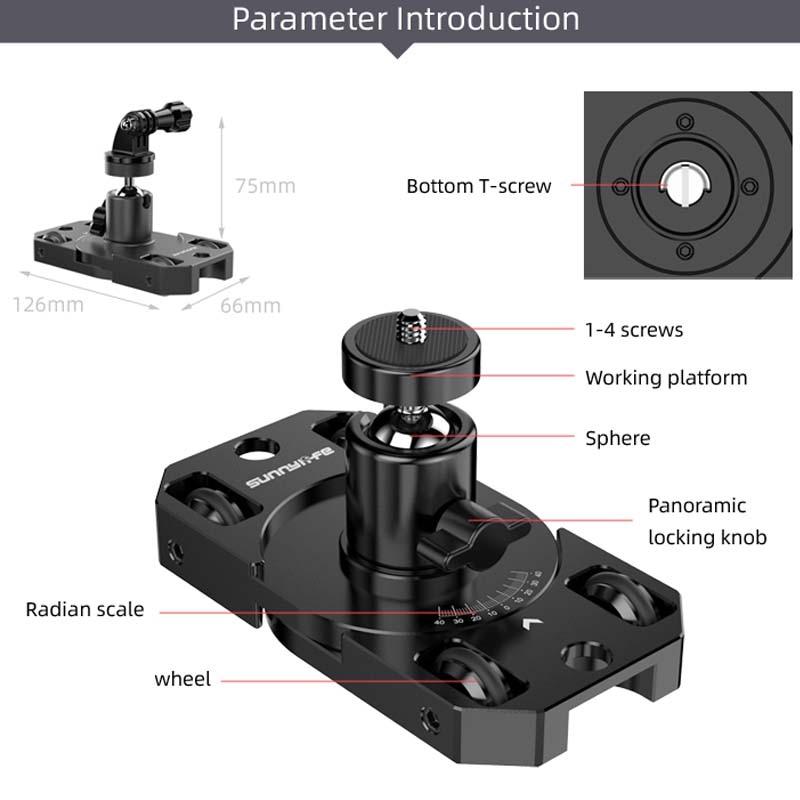 Pan tiro estabilizador para gopro 8 câmera