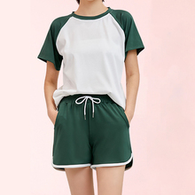 women sweet pajamas set 2020 summer new fashion female short sleeve two-piece sports casual suit women loose sleepwear clothing summer short sleeve shorts running casual sportswear set women s fashion 2020 summer new short fashion pajamas two piece set