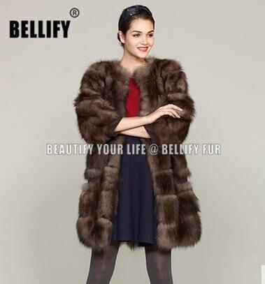 Womens Luxury Genuine Mink Fur Parkas Winter Warm Long Outwear Coat Jacket New