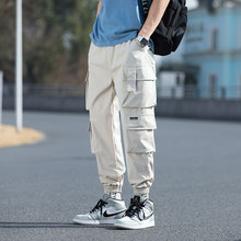 2021 surdimensionné Hommes Pantalon Cargo Streetwear Noir Hommes Jogging Survêtement Décontracté Sarouel Taille Élastique Hommes Grande Taille 5XL