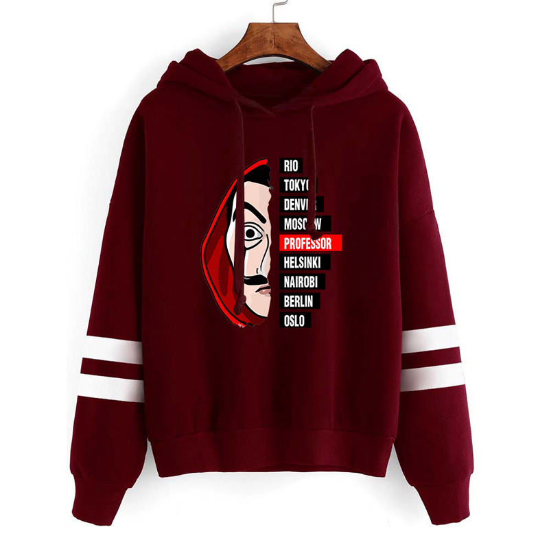 3XL Cosplay Costumes La Casa De Papel 3D Printed Hooded Sweatshirts TV Series Pullovers Men Women Fashion Casual House Of Paper
