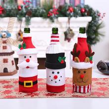FENGRISE Christmas Wine Bottle Cover Merry Decoration For Home 2019 Chrismas Navidad Xmas Decor Happy New Year 2020