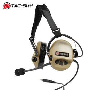 Image 4 - TAC SKY TCI LIBERATOR II ネックバンド SORDIN シリコーンイヤーマフ版 Thoradin ピックアップノイズリダクション狩猟戦術的なヘッドフォン