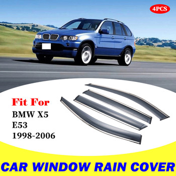 For BMW X5 E53 1998-2006 window visor car rain shield deflectors awning trim cover exterior car-styling accessories parts 1