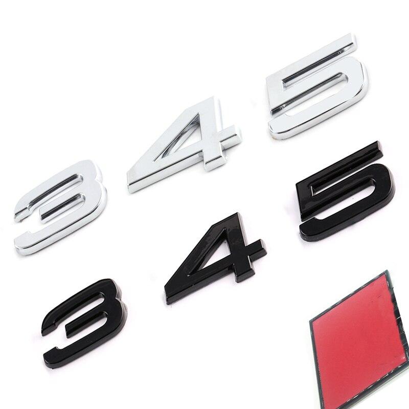 Letter Emblem for Audi S3 S4 S5 S6 S7 S8 RS3 RS4 RS5 RS6 RS7 RSQ3 RSQ5 RSQ7 TTS TTRS Car Styling Red Diamond Badge Trunk Sticker