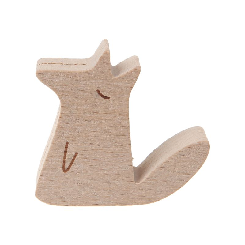 Cute Cartoon Animal Wooden Information Folder Photo Clip Note Memo Notes Display Board Clamps Message Stand Holder DXAC