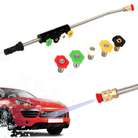 Car Cleaning Tool Water Spray Lance Spear Quick Jet Tips Rotating Nozzle Car Care High Pressure Washer Wand for Karcher K-series