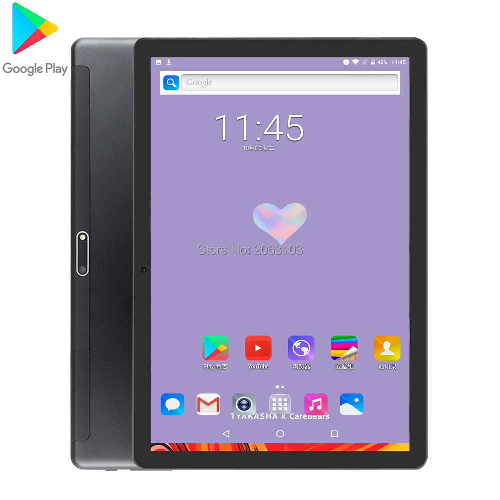 2020 Android 7.0 10 Inch Quad Core Tablet 3G Phone Call Tablet 2GB+32GB Dual SIM 8.0MP Bluetooth Wifi GPS Tablets 10 Pad