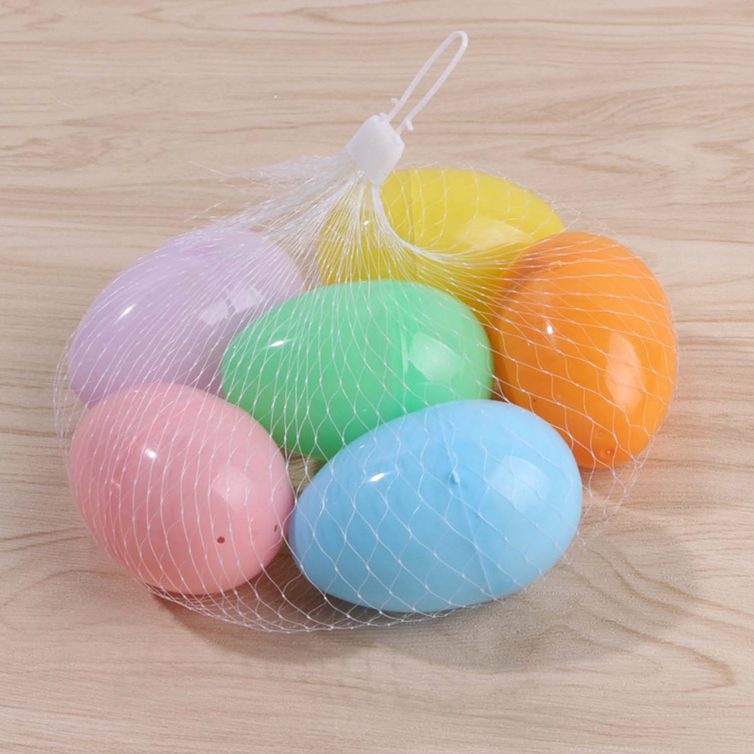 Besegad 6Colors Kids DIY Fillable Empty Easter Egg Simulation Fake Plastic Artificial Eggs Set Easter Home Party Decorations Toy