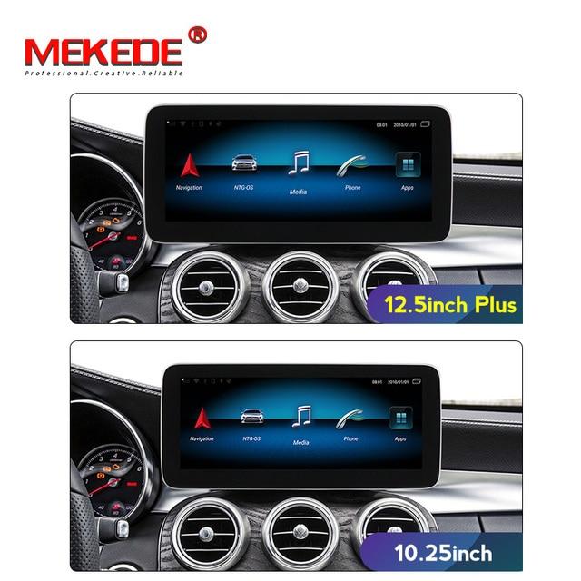 "Android 9 12.5 ""Blau anti glare screencar multimedia spieler gps navi für Mercedes benz C Klasse W205/GLC klasse 2014 2018 NTG 5,0"