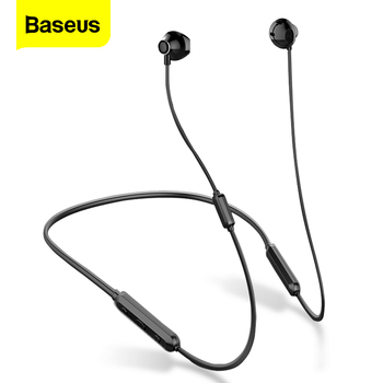 Baseus S11A Bluetooth Earphone Wireless Headphone Headset Neckband Sport Earbuds auriculares For iPhone Xiaomi Earpiece With Mic ucomx g02s wireless headphone sport bluetooth earphone neckband stereo headset magnetic auriculares with mic for running android
