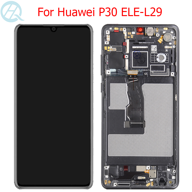 Original OLED Display For Huawei P30 LCD With Frame Touch Screen 6.1
